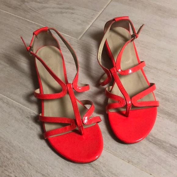 97c915a04781 Boden Shoes - Women s Boden bright neon coral sandals Sz EU 40